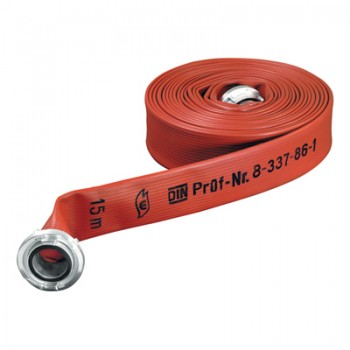 Fire hose, type Polydur, red