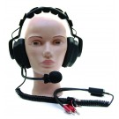 Headset with Microphone and Banana Plug for AMCOM Diver Communicator